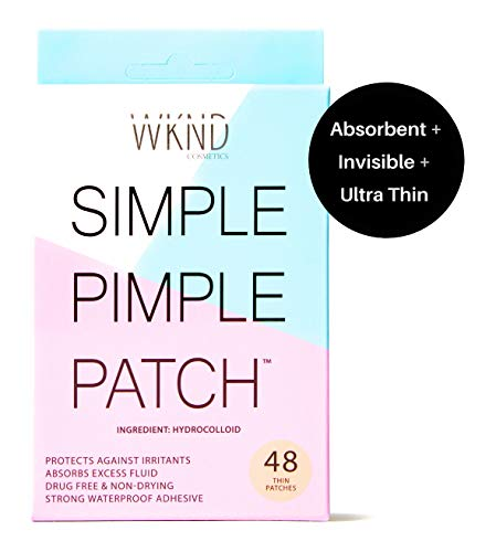 SIMPLE PIMPLE PATCH - Hydrocolloid Acne & Blemish Patches | Quick Invisible On the Go Natural Breakout Treatment | Stress & Mess Free Dot Covers for Zits & Whiteheads | Discreetly Absorbs Gunk & Oil