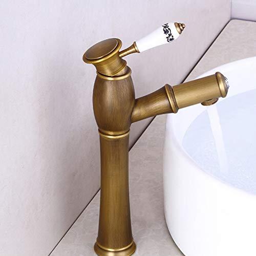 Faucet European Antique Faucet All Copper American gold Retro Faucet Above Counter Basin wash Head Faucet