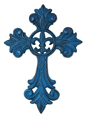 Elegant Ornate Fleur De Lis Cross