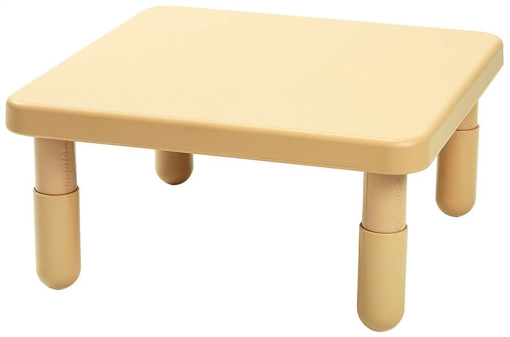 Square Kids Table in Natural Tan (28 in. W x 28 in. D x 14 in. H (8 lbs.))