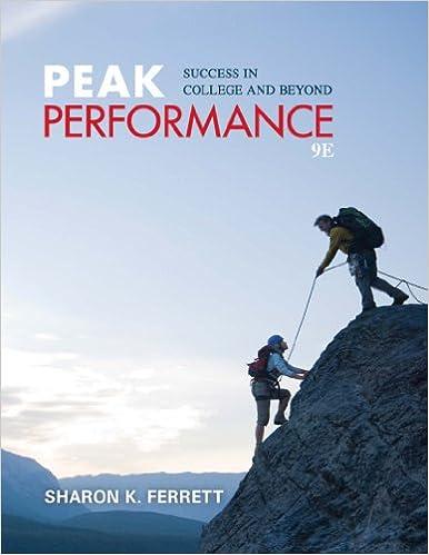 Peak Performance PDF Free Download