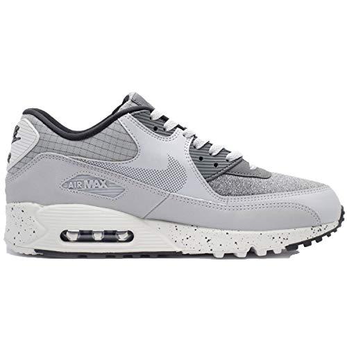 Nike Men's Air Max 90 Premium Wolf Grey/Dark Grey-Black-Pure Platinum 700155-016 (Size: 9.5)