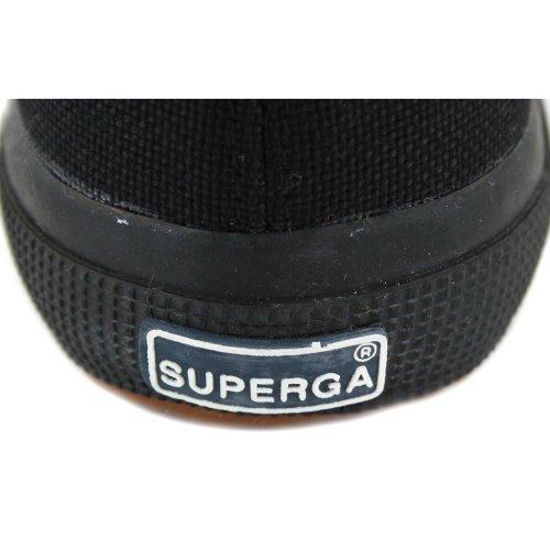 Superga 2750cotu Classic s000010, unisex–Adultos negro/negro