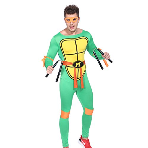 80s TV Show Teenage Mutant Ninja Turtles Costume TMNT Fancy Dress w/ (Leonardo Ninja Turtle Costume Uk)