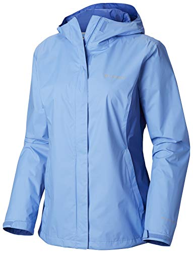 Columbia Women's Plus Size Arcadia II Jacket, White Cap/Arctic Blue X-Large