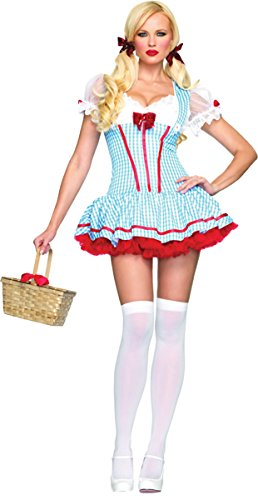 [Wizard of Oz -Gingham Diva Dorothy Costume - X-Small] (Gingham Womens Costumes)