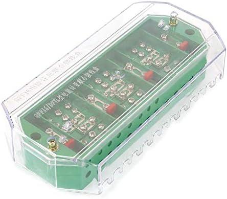 QFJ6 / DFY1 Caja de empalme eléctrica trifásica de la fila del terminal del metro del hogar de 4 alambres para probar el equipo eléctrico(DFY1+Electric cover): Amazon.es: Bricolaje y herramientas
