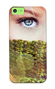 Markrebhood Scratch-free Phone Case for iphone 6 4.7- Retail Packaging - Sparkle Women Females Girls Redhead Face Eyes Pov Style Fashion Models