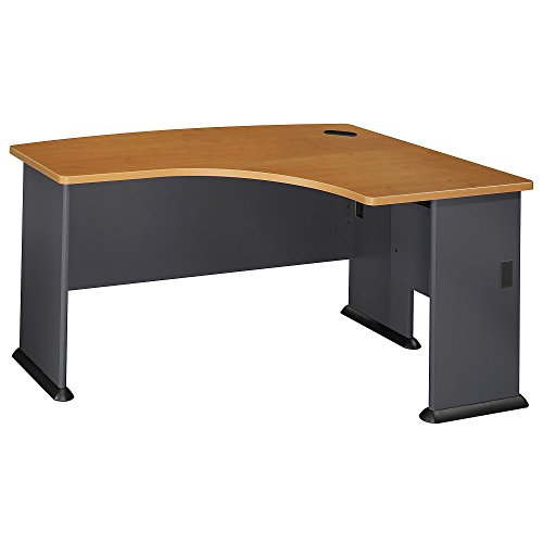 Bush Business Furniture Series A Collection 60W x44D Right Hand L-Bow Desk in Natural ()
