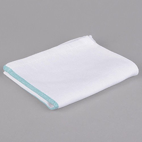 GHP 240-Pcs 24-Oz White Cotton Green Stripe Kitchen Cleaning Towels by Globe House Products