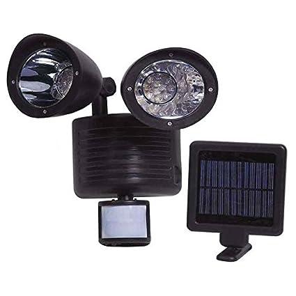 Asab funciona con energía solar sensor de movimiento detector de seguridad 22 Super brillante Blanco LED