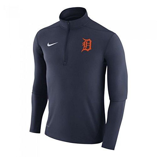 Detroit Tigers Pullover Jacket - NIKE Detroit Tigers Element Dry 1/2 Zip Pullover Jacket (XX-Large)