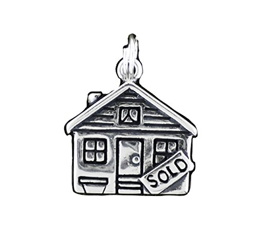 Cm Sterling Silver Sold Sign Real Estate House Pendant