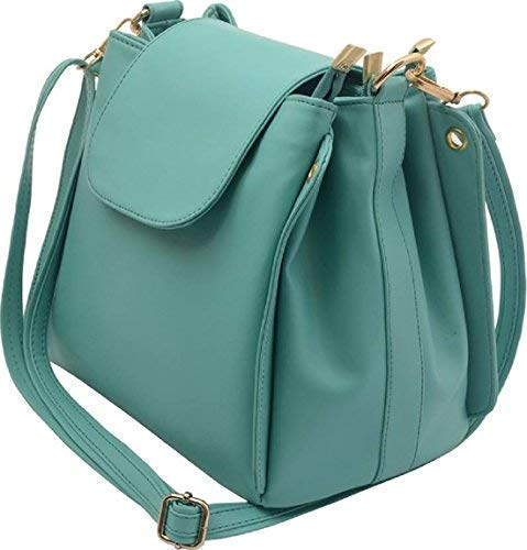 Deniza Pu Sling Bag For Women -Green Color