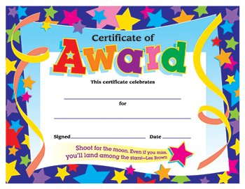 TREND Certificates of Award, 8-1/2 x 11, -