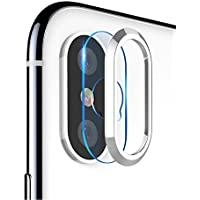 HaloVa IPhone X Camera Lens Protector, Metal Ring Plating...