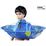 EZOM 子供用 おうちで ヘアカット ケープ 散髪ケープ ブルー