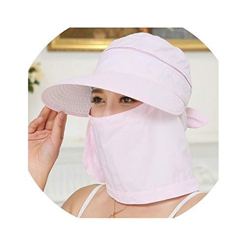 Fashion Women's Foldable Sun Hat UV Protection Wide Brim Sun Hat,Pink -