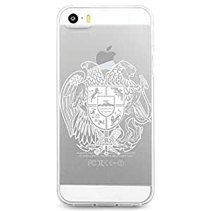 TPU Case for iPhone 5/5s - Armenian Flag Coat of Arms (Clear 2)