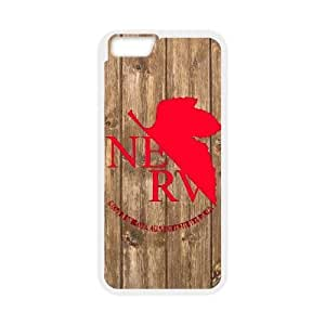 Durable Rubber Cases iPhone 6 4.7 Inch Cell Phone Case White Jaajk Neon Genesis Evangelion Protection Cover