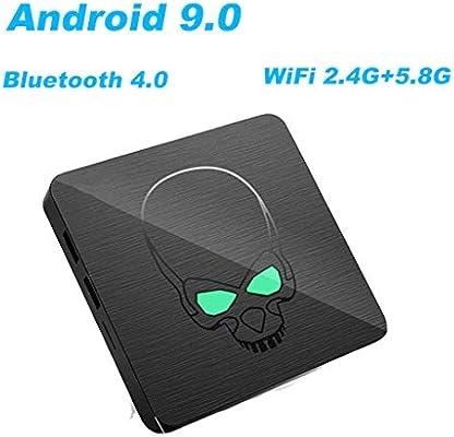 LTLZCY Android TV Box [4GB RAM+64GB ROM] Android TV Box9.0 Hexa-Core Arm Cortex-A73 Soporte 4K, WiFi 2.4G/5.8G,BT 4.0, USB 3.0 Smart TV Box: Amazon.es: Hogar