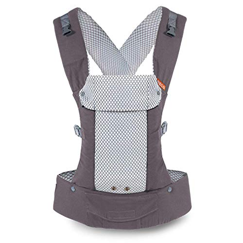 Beco Gemini Baby Carrier – Cool Mesh Grey, Sleek and Simple 5-in-1 All Position Backpack Style Sling for Holding Babies, Infants and Child from 7-35 lbs Certified Ergonomic