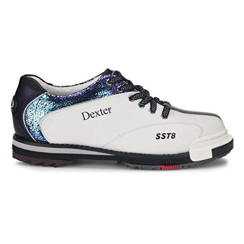 (Dexter Womens SST 8 Pro White/Crackle/Black Bowling Shoes 9 M)