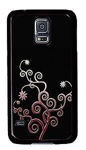 Samsung Galaxy S5 Patterns swirls PC Custom Samsung Galaxy S5 Case Cover Black