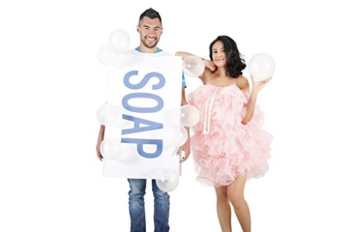 Soap Loofah Bubbles Adult Costume (Halloween Cute Costumes For Couples)