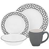 CORELLE Impressions Urban Grid 16-pc Dinnerware Set
