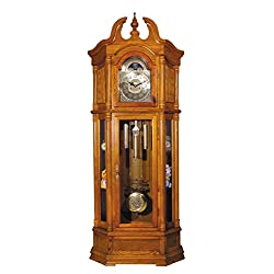 Major-Q 9001410 84 H Traditional Style Oak Finish Key Wound Mechanicla Movement Block Footing Grandfather Floor Clock