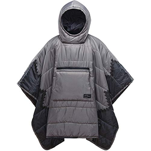 - Therm-a-Rest Honcho Poncho Wearable Hoodie Blanket, Slate Print