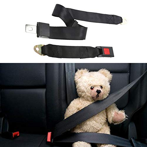 camion rallonge de ceinture de s/écurit/é Noir OneMoreT Ceinture de s/écurit/é universelle 2 points r/églable en tissu polyester pour voiture