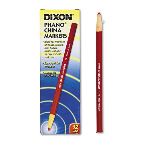 Dixon 00079 China Markers, Red, -