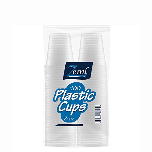Zeml Disposable Clear Plastic Cups (3 oz. - 100 ()