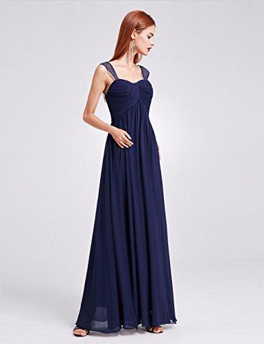 08863 Lang Damen Elegant Ever Marineblau Pretty Ärmlos Abendpartykleid cvIWYq