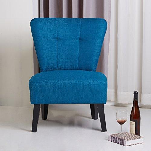Modern Porter Maddie Blue Modern Contemporary Accent Chair in Black