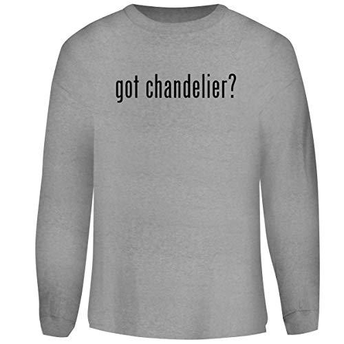 (One Legging it Around got Chandelier? - Men's Funny Soft Adult Crewneck Sweatshirt, Heather, X-Large)