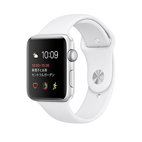 Apple Watch Series 1 42mm シルバーアルミニウムケースとホワイトスポーツバンド MNNL2J/A