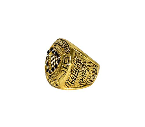 JEFF GORDON (Hendrick Motorsports) 1997 WINSTON MILLION NASCAR CHAMPION (#24 DuPont Team) Rare Collectible Replica Gold NASCAR Championship Ring with Cherrywood Display Box