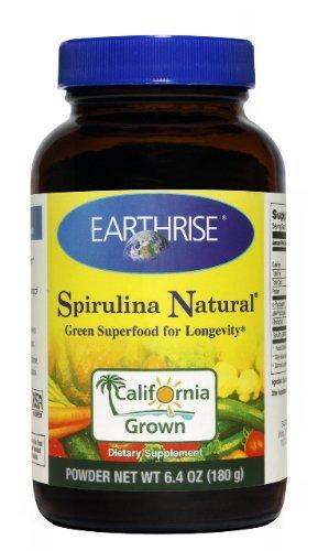 6.4 Ounce Spirulina (Earthrise, Spirulina Natural, Powder, 6.4 oz (180 g) by Earthrise)