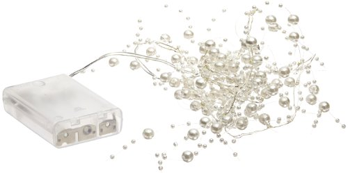 Fortune Products PLG-100W Pearls and Lights Garland, LED String Light, 4-1/2' Length (Single Strand)