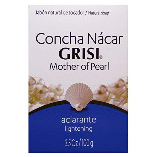 Concha Nacar Grisi Hand Soap | Lightening Bar Soap for an Even Skin Tone, Bath Soap with Mother of Pearl that helps Vanish Small Dark Spots. ; 3.5 Ounces