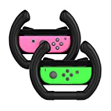 Nintendo Switch Steering Wheel, TechMatte Joy-Con Wheel Controllers For Mario Kart Nintendo Switch (Set of 2) – Black For Sale