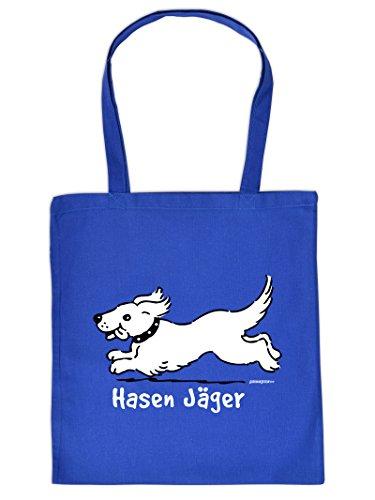 Mega schöne Einkaufstasche Baumwolltasche Tragetasche für Hundeliebhaber - Hasen Jäger Tier Tiere Tasche Hundebesitzer