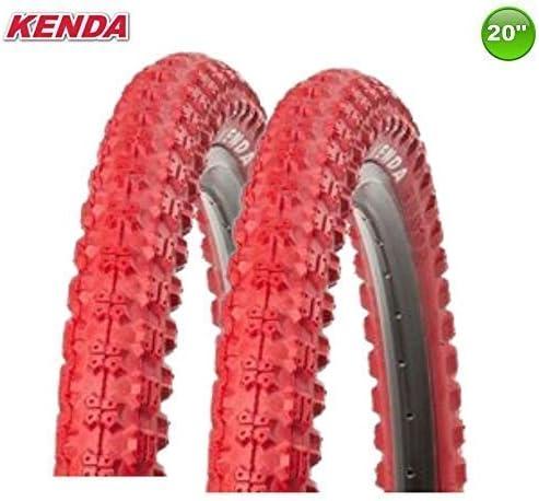 2 X Kenda K-51 Bicicleta BMX - Goma Abrigo Cubierta Rojo 20 X 2.25-58-406: Amazon.es: Deportes y aire libre