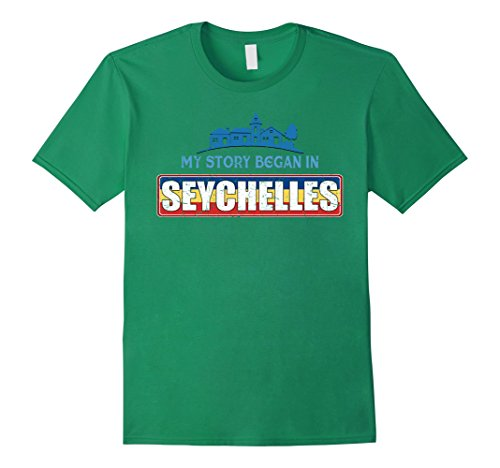 Seychelles T-shirt (Mens My story begins in Seychelles T-Shirt Small Kelly Green)
