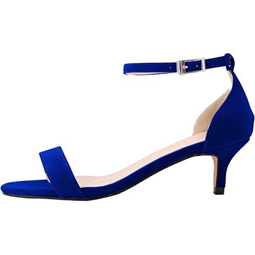 Femme Ouvert Bride Escarpins Moyen Bleu Cheville Talon Sandales Bout Soirée Suédé Confort 35 wealsex 42 Chaussure Mariage Boucle Bx8U0gwEqx