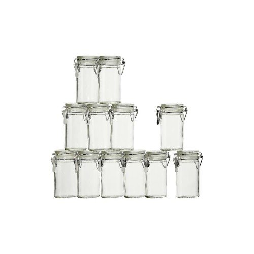 Airtight Jar Container W/ Lid & Latch Stainless Lid Pack Of 12
