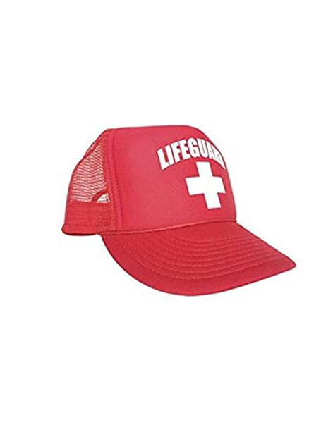 Amazon.com  LIFEGUARD Officially Licensed Red Mesh Trucker Foam ... 95e7a9e81fe